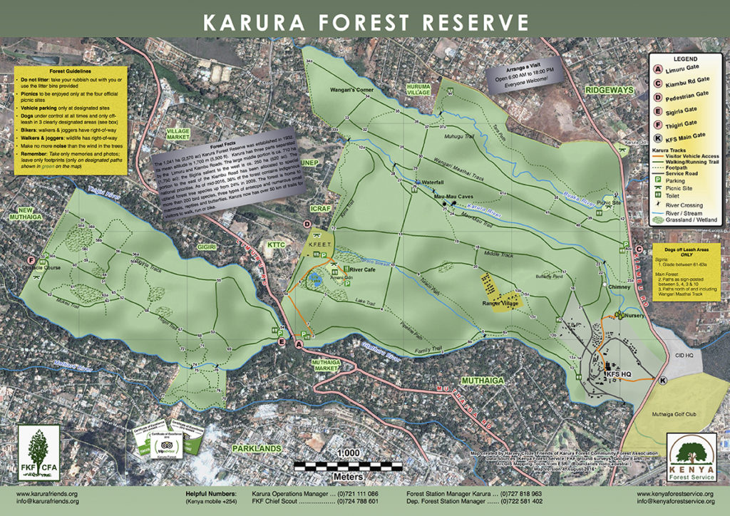 New Karura Forest Map